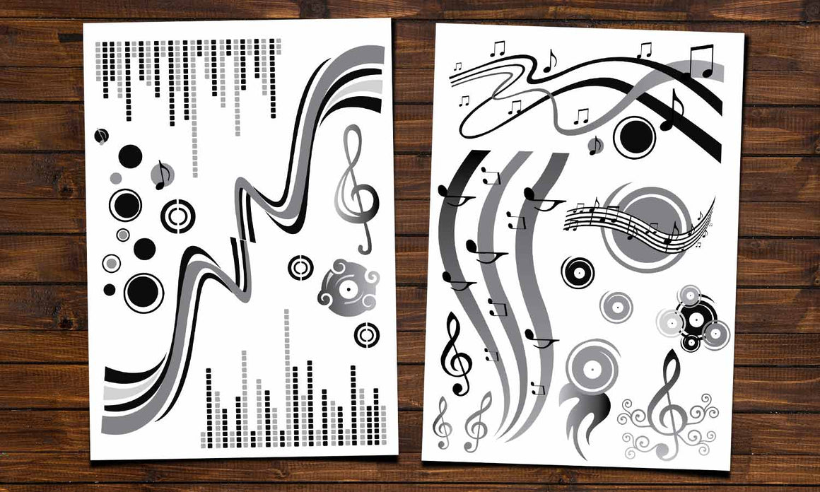Wall stickers  Grey Music - WS011