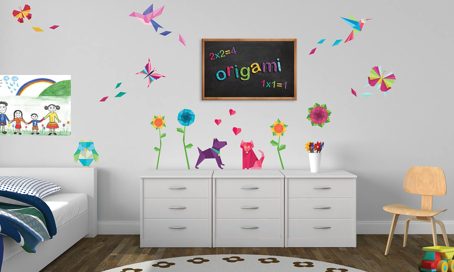 Wall stickers Origami - WS063