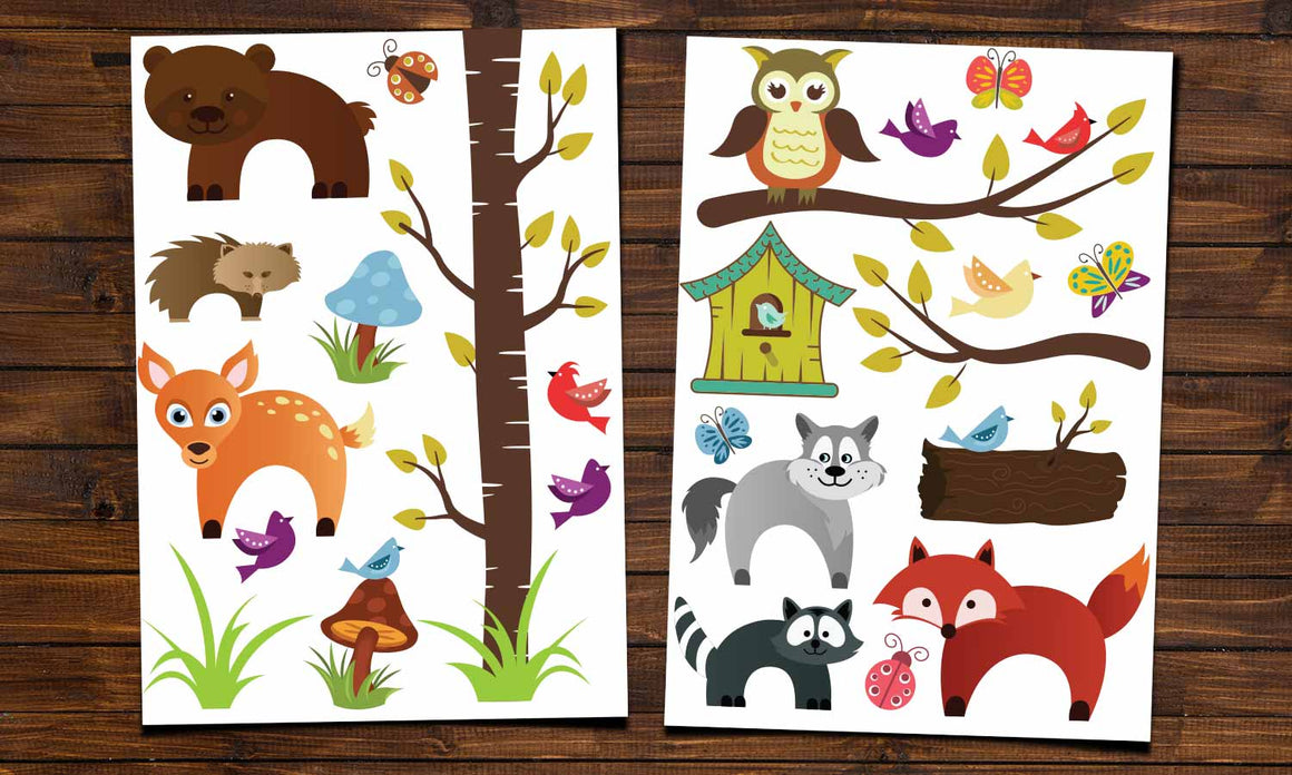 Wall stickers Forest animals - WS064