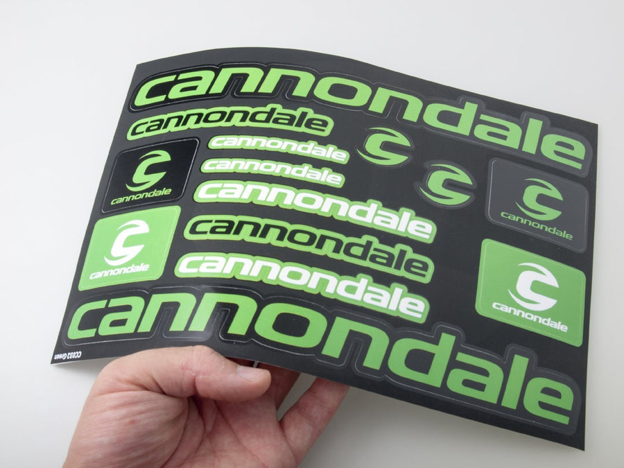 Cannondale self-adhesive sticker for a bike - black & green - Art Life Decor