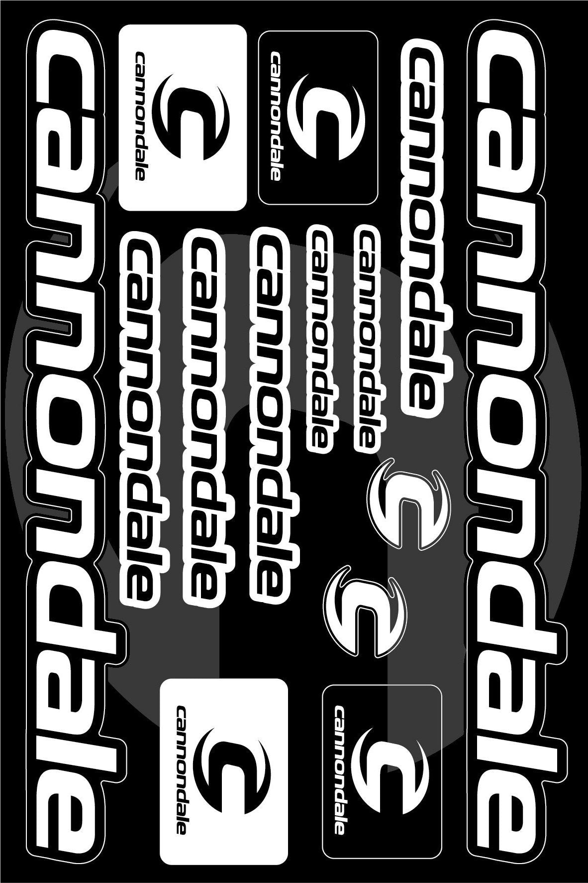 Cannondale Self Adhesive Sticker For A Bike Black White Art