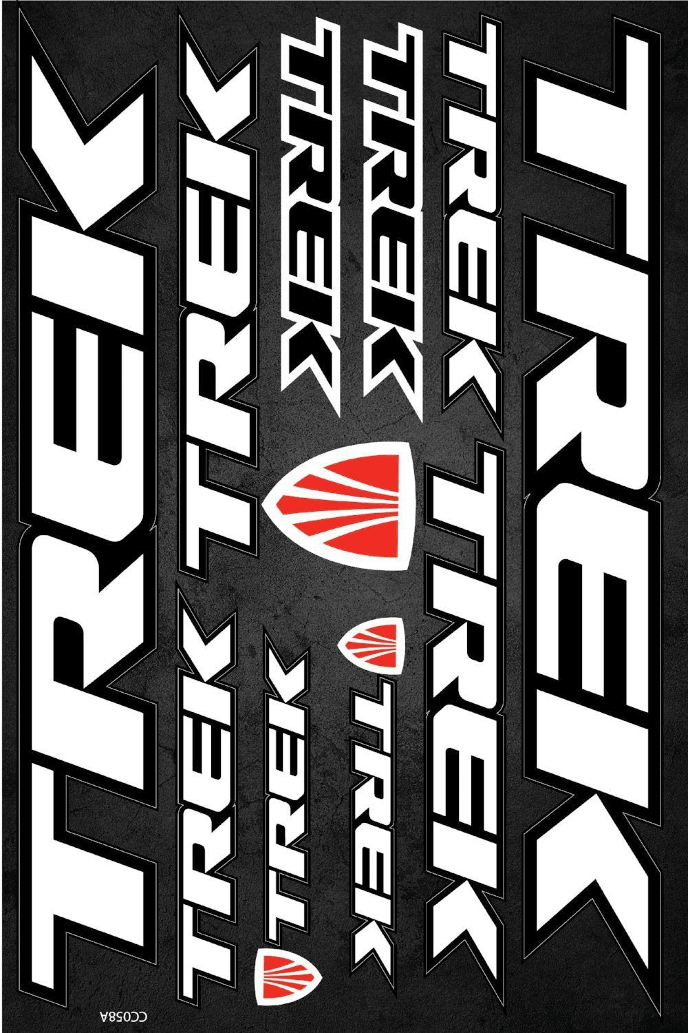 Trek self-adhesive sticker for a bike - model 1