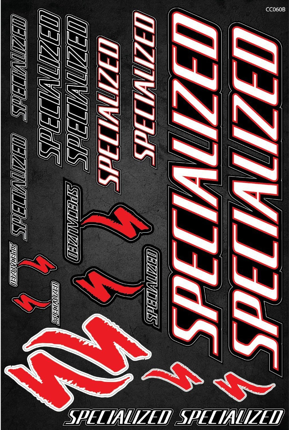 Specialized self-adhesive sticker for a bike - model 2