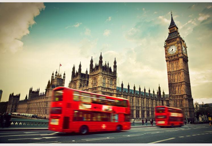 Wallpaper London Red bus SW036