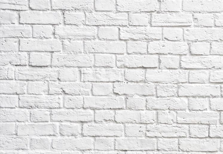 Wallpaper White brick wall SW030