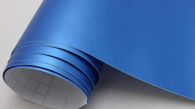 Self-adhesive foil for furniture - blue foil