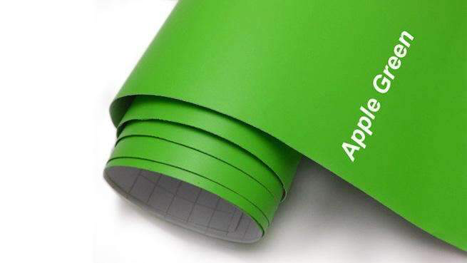 Self-adhesive foil for furniture - green foil