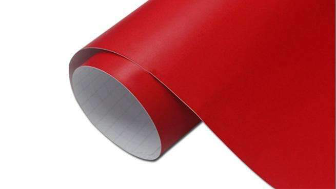Self-adhesive foil for furniture - red foil