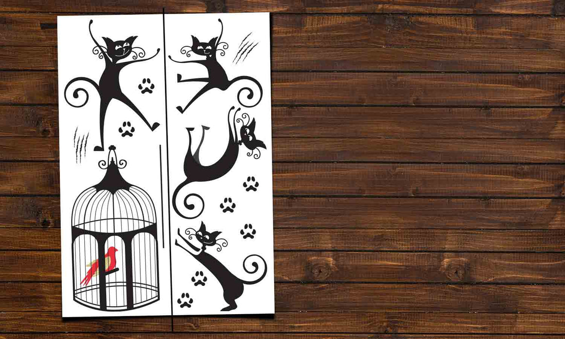 Wall stickers Black Cats - DWS003