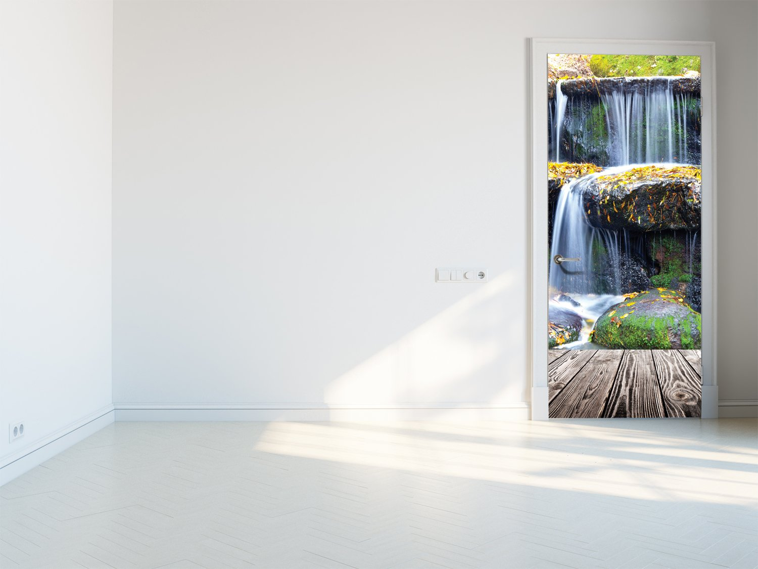 Door stickers Waterfall - TA062 - Art Life Decor