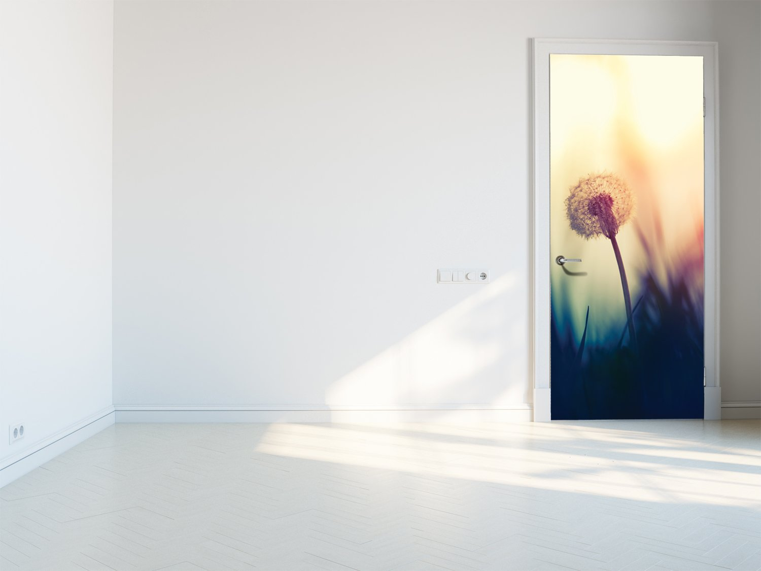Door stickers Spring dandelion - TA081 - Art Life Decor