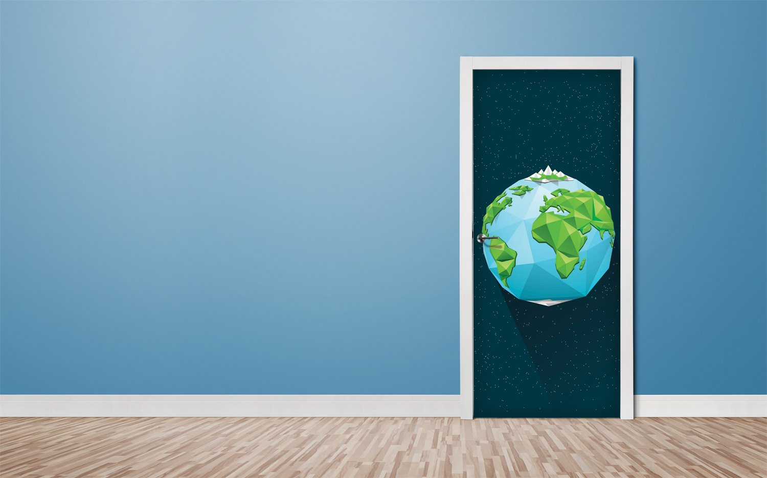 Door stickers Earth - TA045 - Art Life Decor