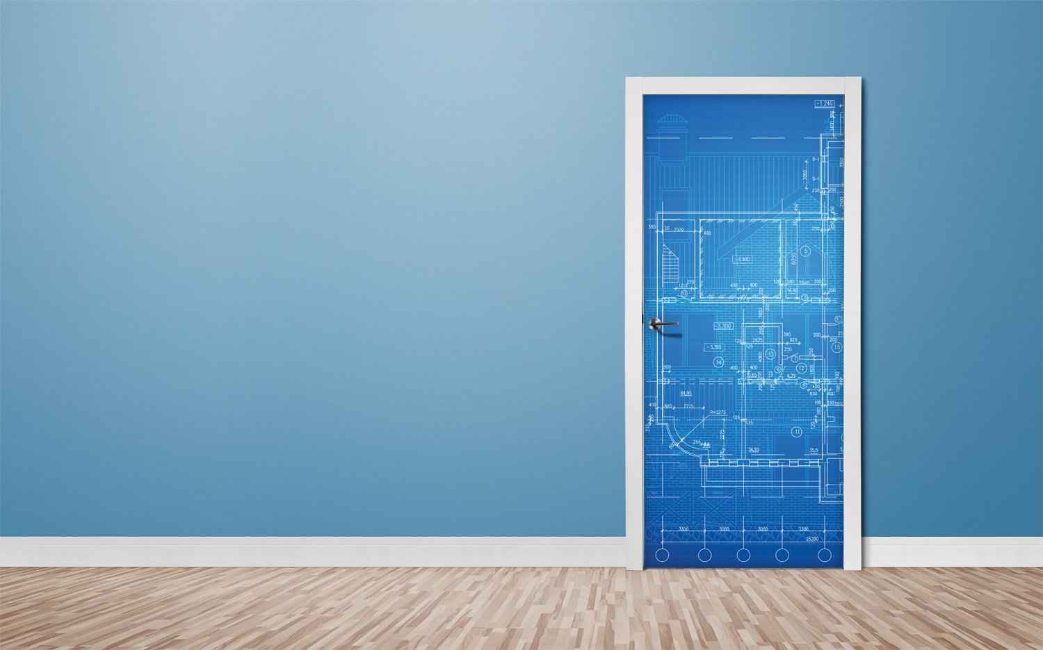 Door stickers Blueprint - TA061 - Art Life Decor