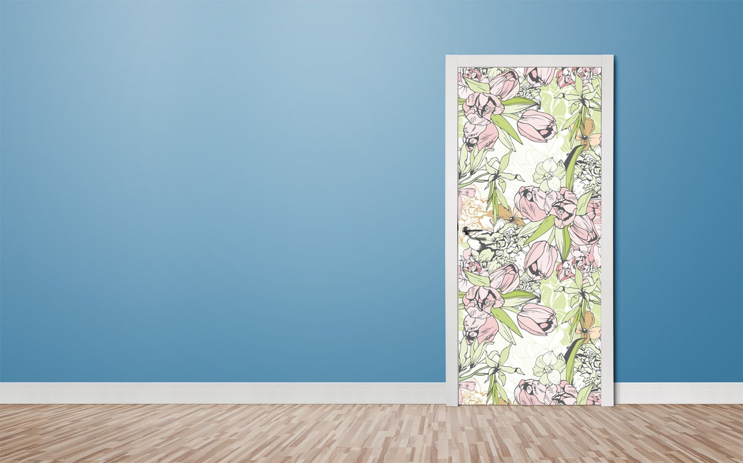 Door stickers Flowers - TA099 - Art Life Decor