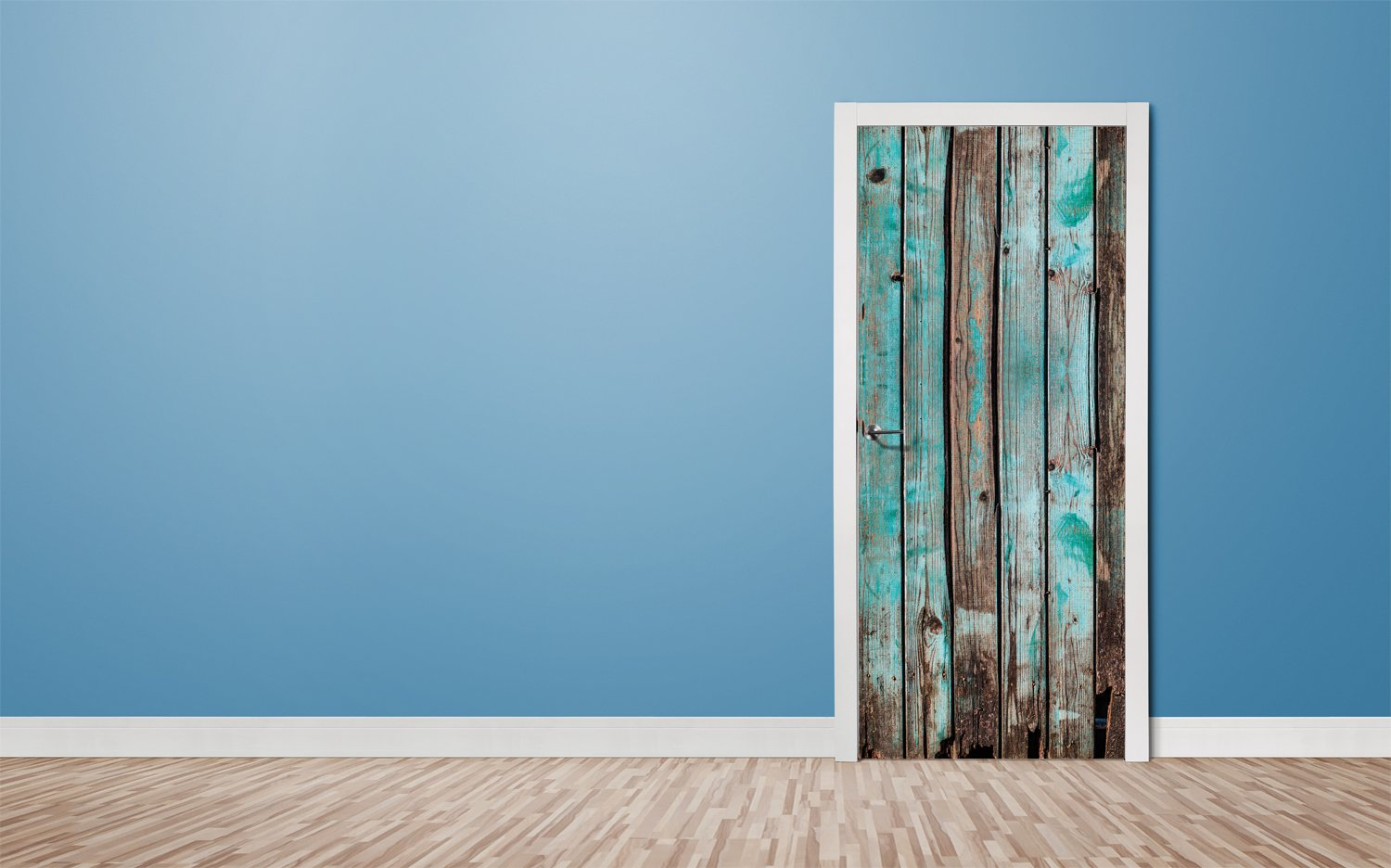 Door stickers Rustical wooden doors- TA075 - Art Life Decor