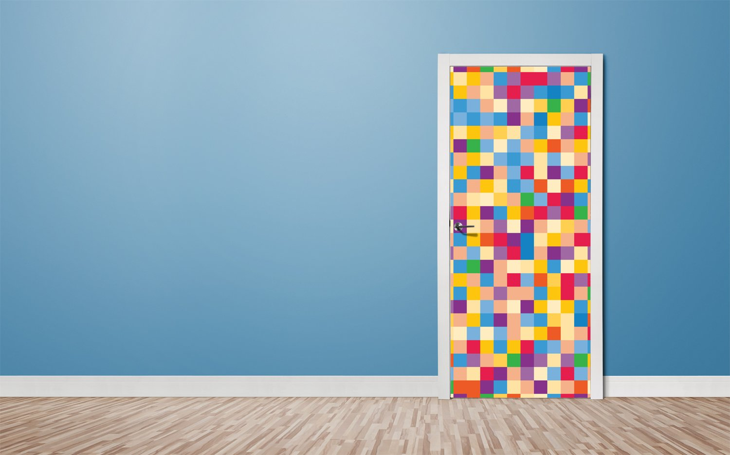 Door stickers Colorful squares - TA091 - Art Life Decor