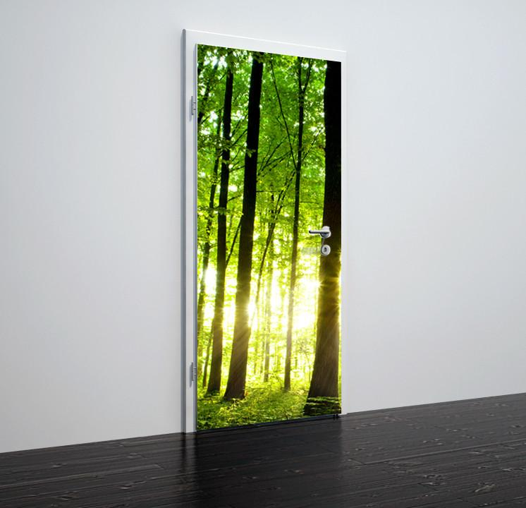 Door stickers Green Forest   - TA009 - Art Life Decor