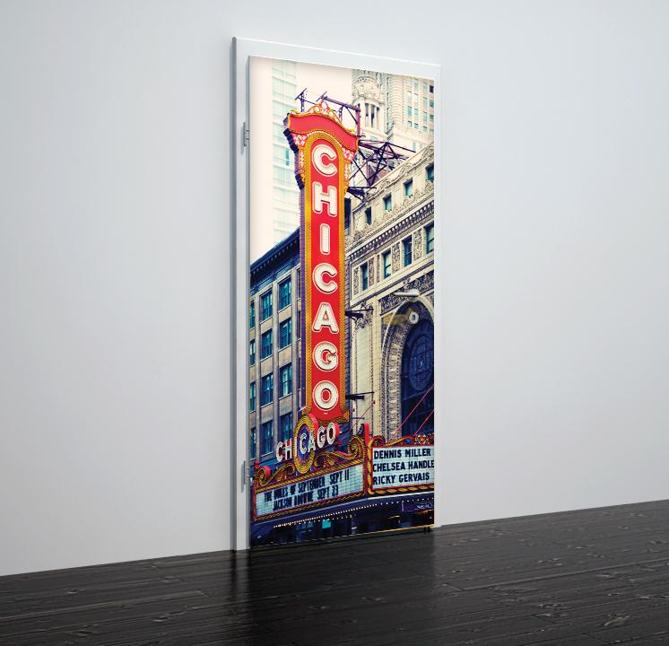 Door stickers Chicago - TA048 - Art Life Decor