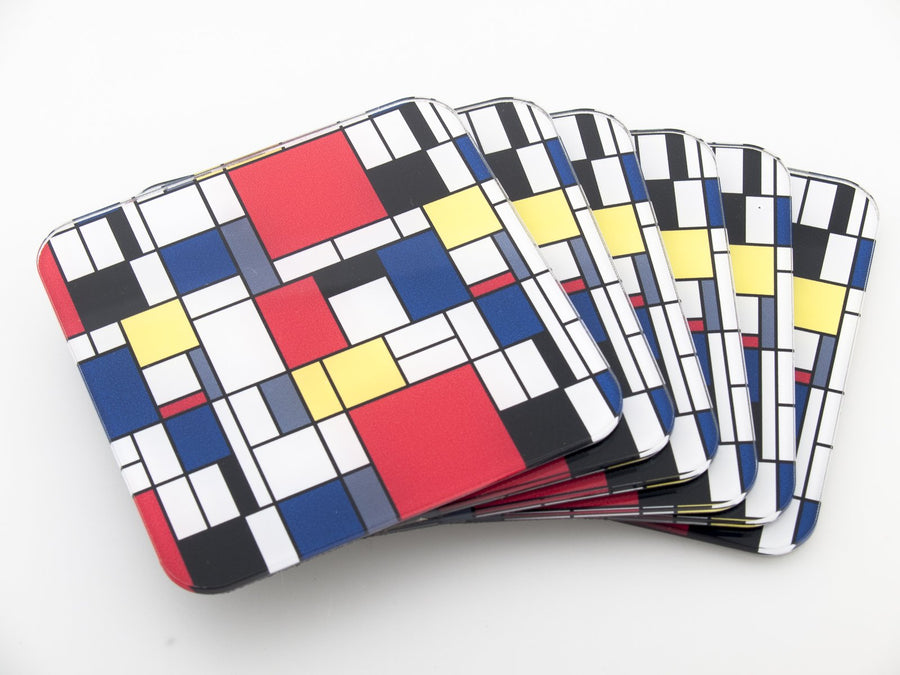 Coasters -  Mondrian  CO021 - Art Life Decor