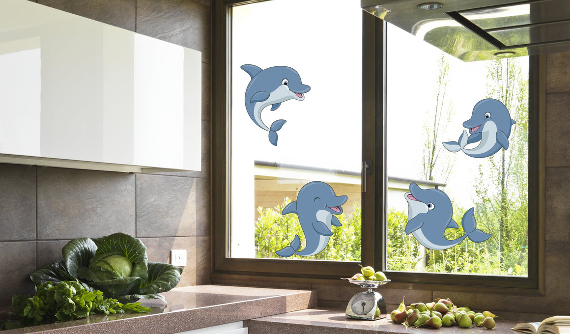 Dolphins - Windows decoration WL025 - Art Life Decor