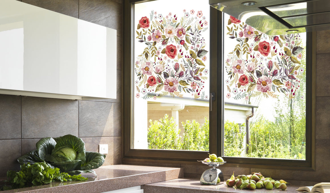 Flowers - Windows decoration WL045 - Art Life Decor