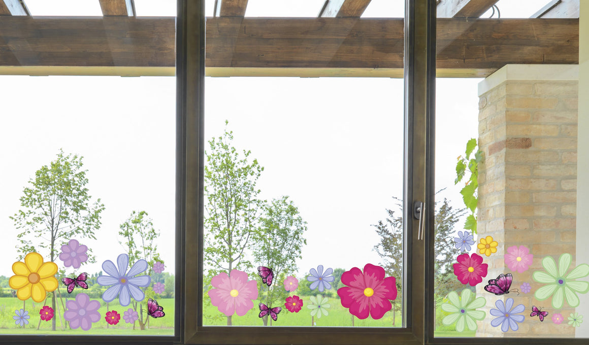 Flowers - Windows decoration WL047 - Art Life Decor