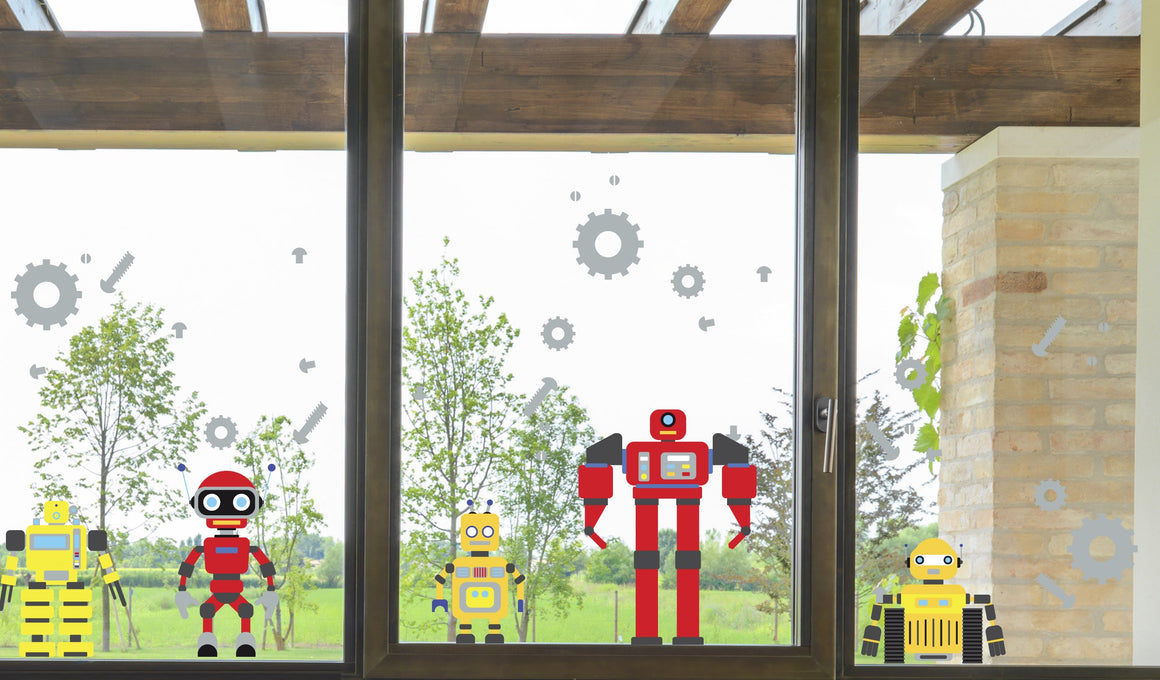 Robots - Windows decoration WL048