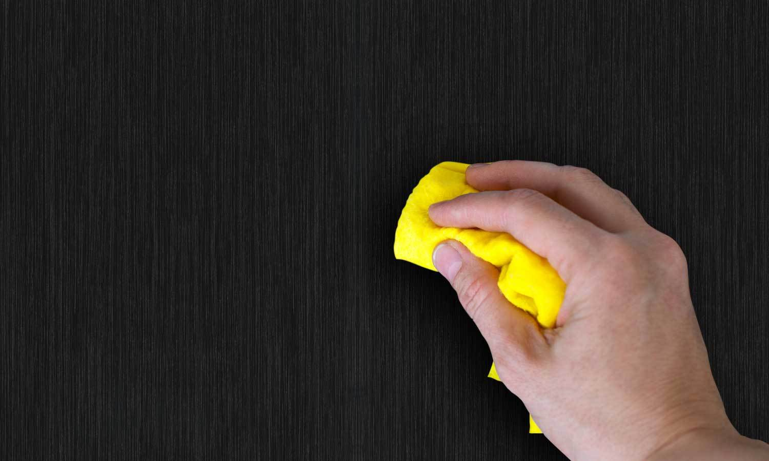 self-adhesive film for furniture - black wood PAT008