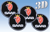 Saab -3D wheel stickers