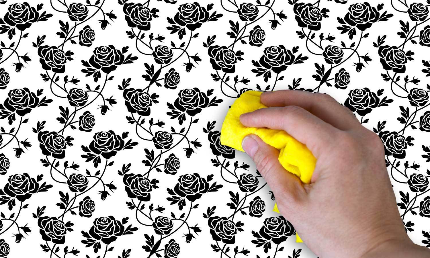 self-adhesive film for furniture - black rose   PAT001