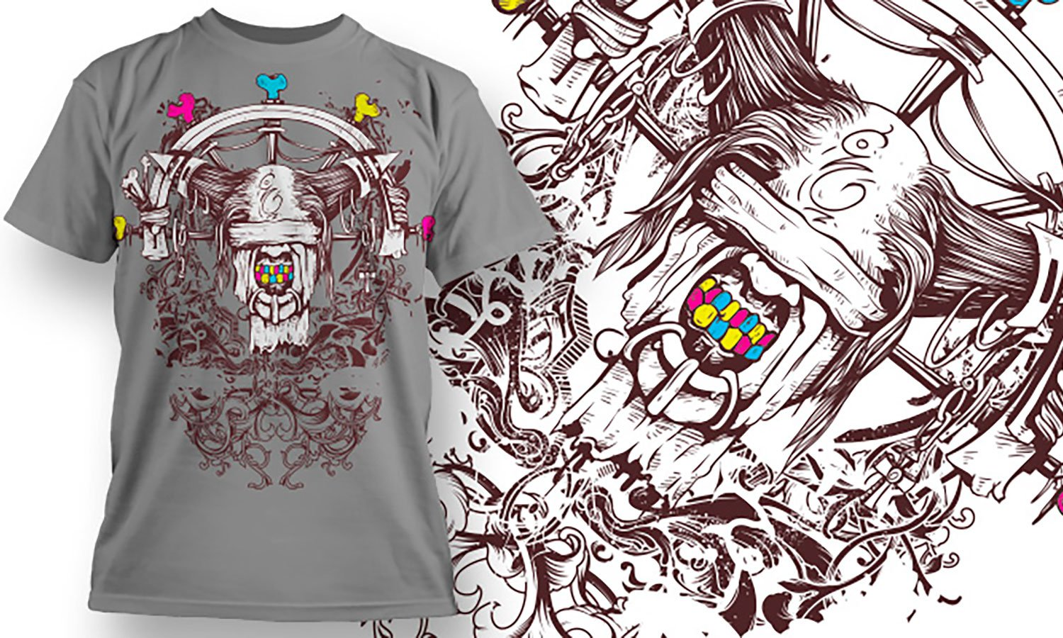Modern Tribal - Printed T-Shirt for Men, Women and Kids - TS033