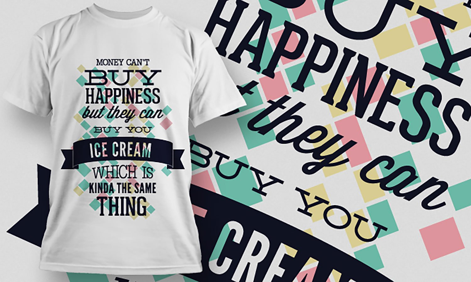 Ice Cream - Printed T-Shirt for Men, Women and Kids - TS349