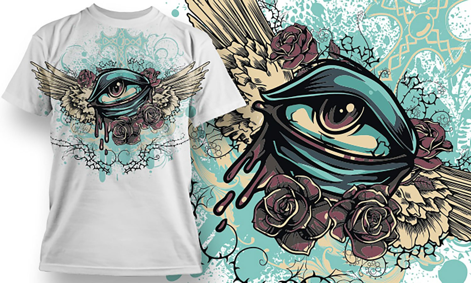 Oko - Printed T-Shirt for Men, Women and Kids - TS374