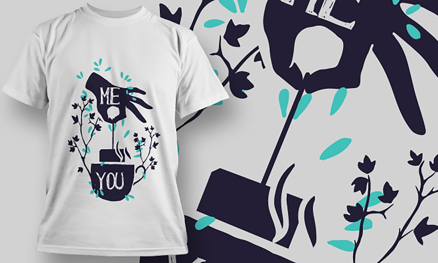 Me and You - Printed T-Shirt for Men, Women and Kids - TS277