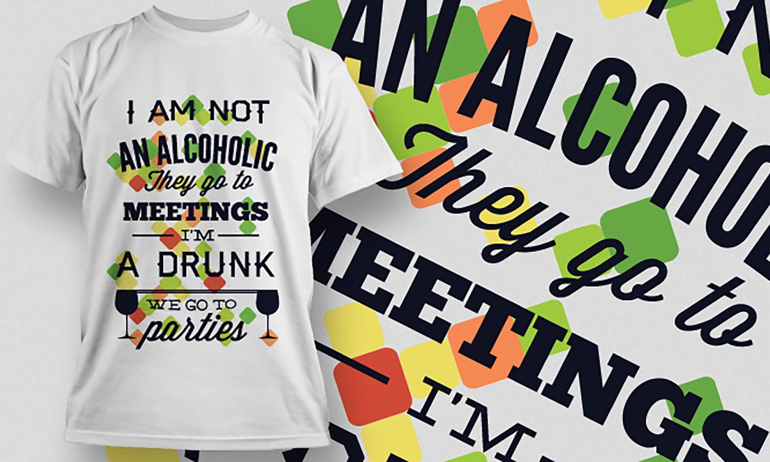 Alcoholic - Printed T-Shirt for Men, Women and Kids - TS348