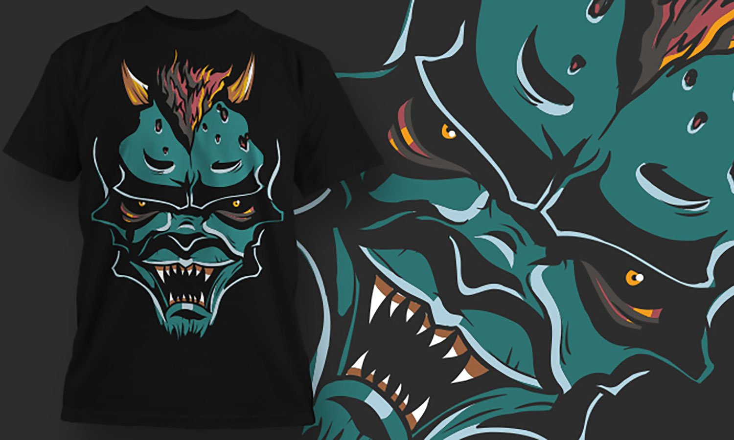 Devil Fire - Printed T-Shirt for Men, Women and Kids - TS385