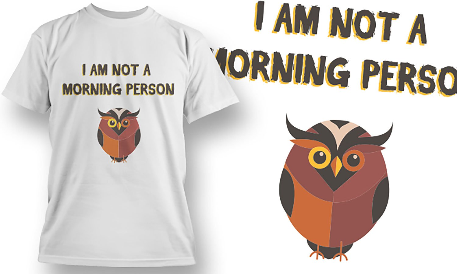 Morning Person - Printed T-Shirt for Men, Women and Kids - TS442