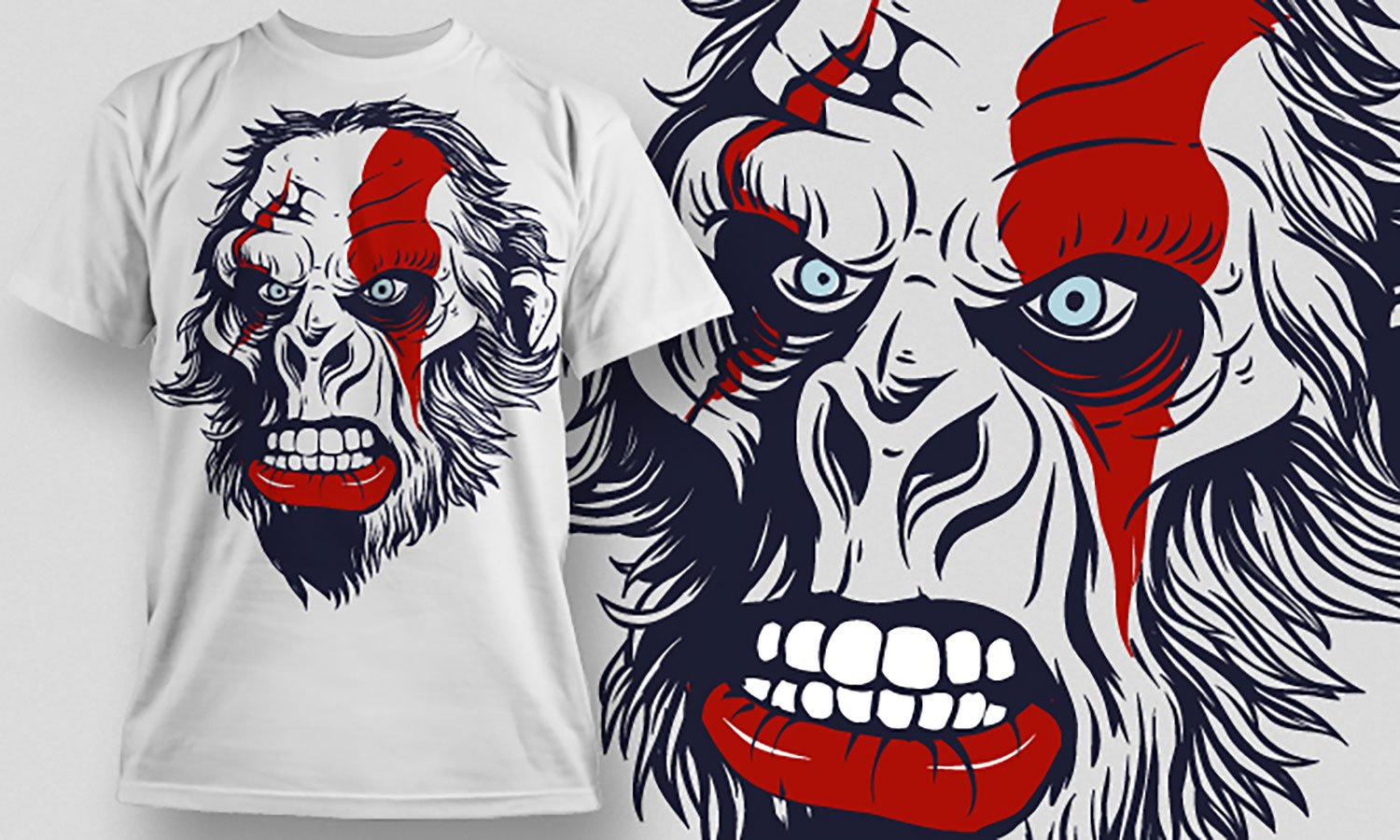 Gorilla - Printed T-Shirt for Men, Women and Kids - TS311
