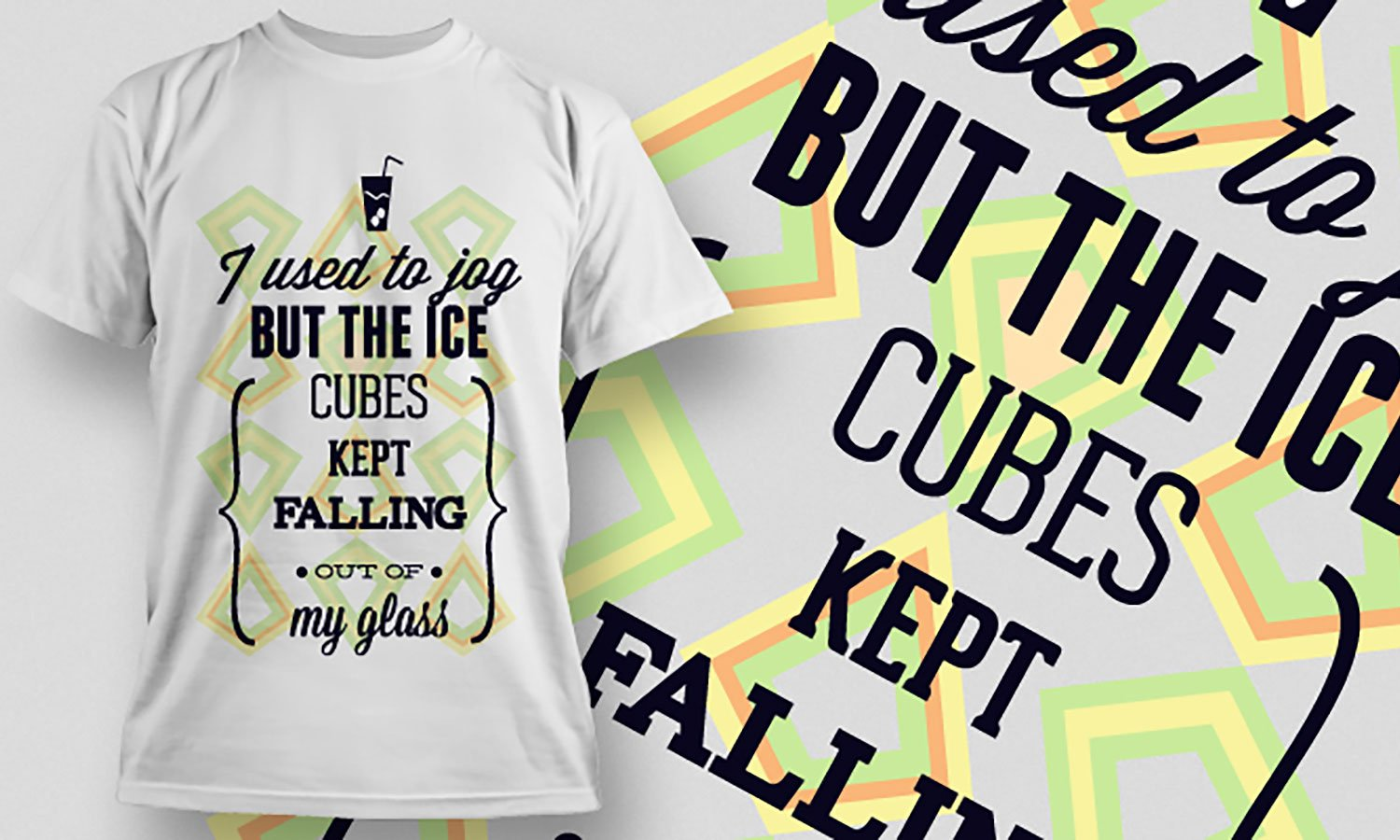 Ice Cubes - Printed T-Shirt for Men, Women and Kids - TS373