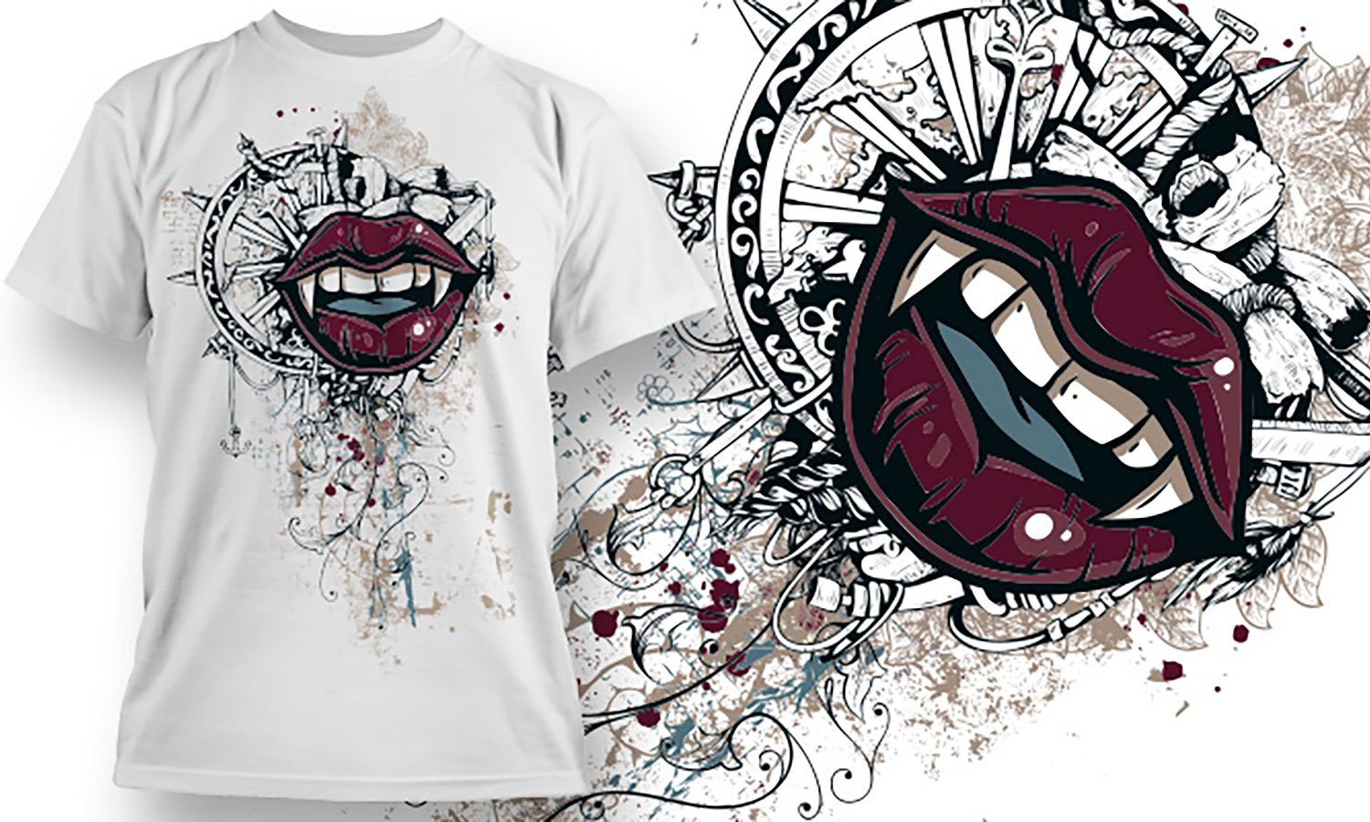 Lips - Printed T-Shirt for Men, Women and Kids - TS040