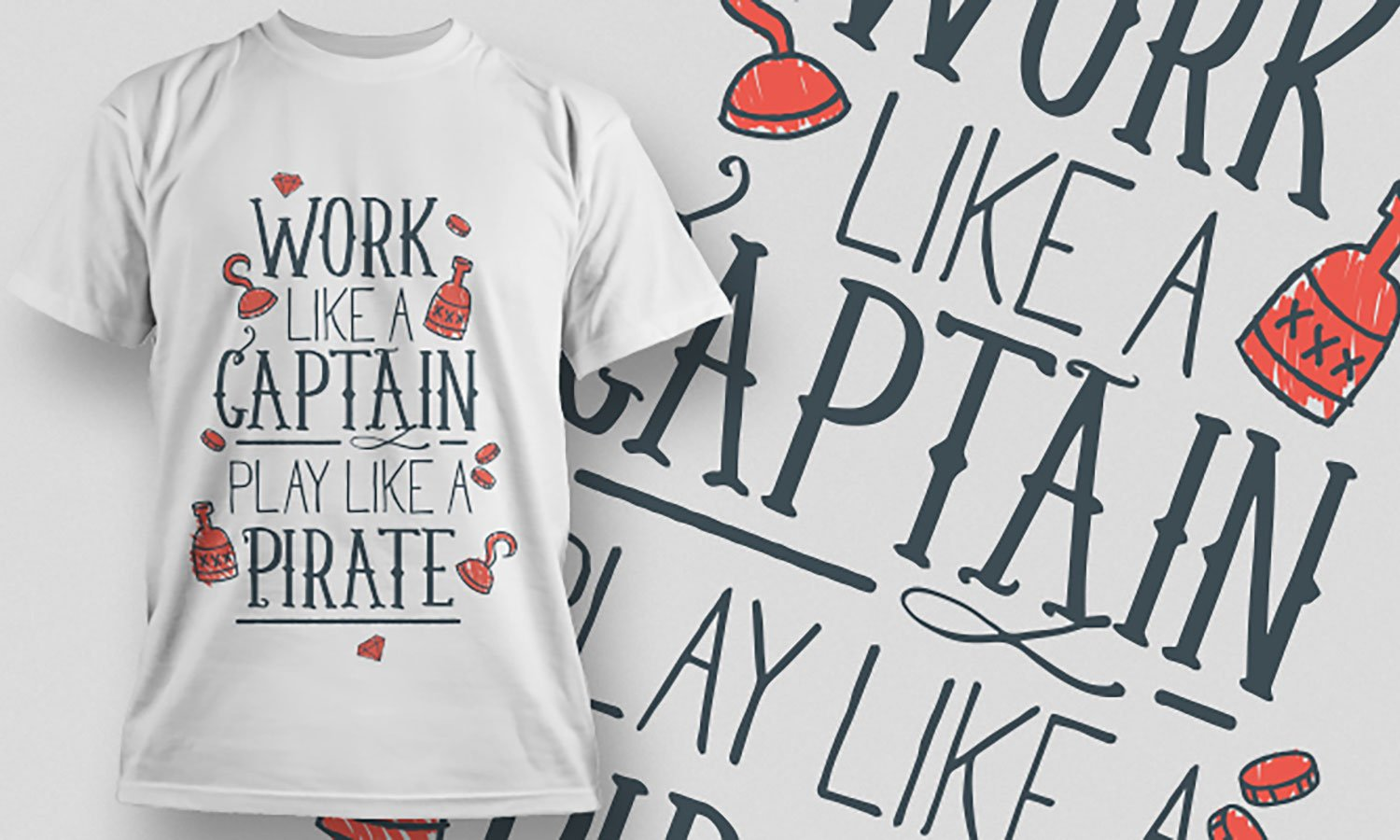Work Like Captain - Printed T-Shirt for Men, Women and Kids - TS434