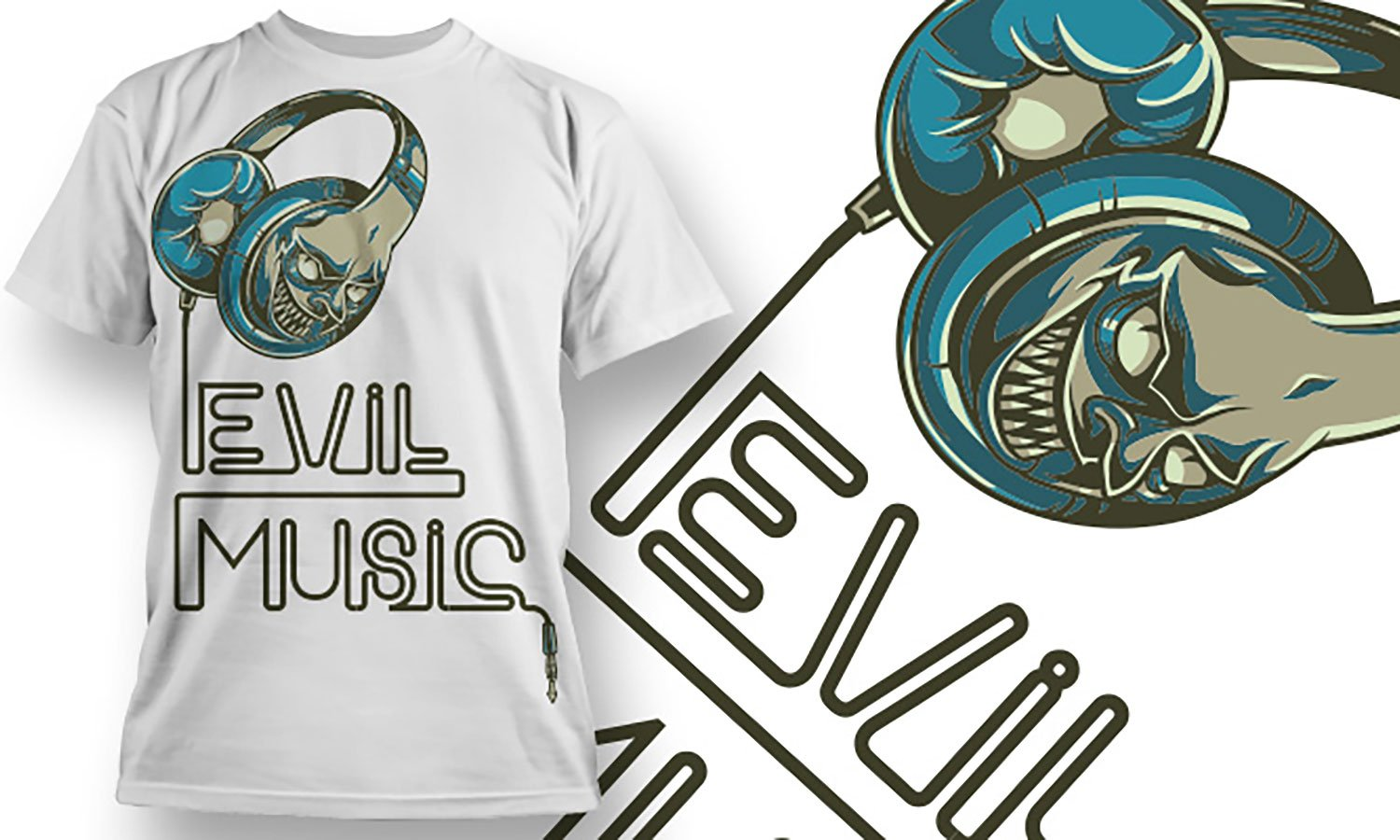 Evil Music - Printed T-Shirt for Men, Women and Kids - TS369