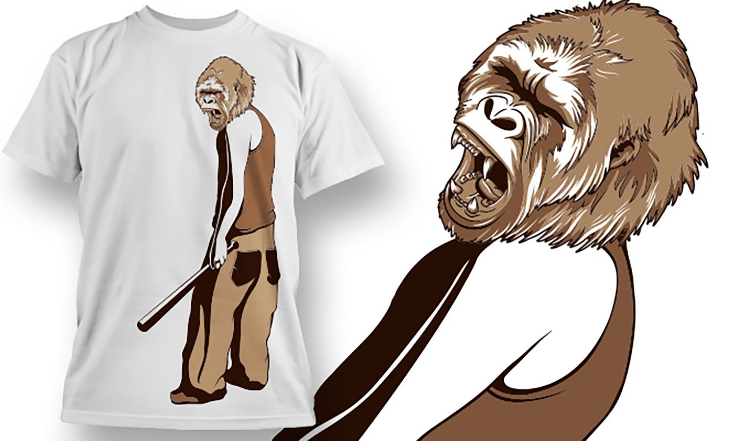 Monkey People - Printed T-Shirt for Men, Women and Kids - TS393