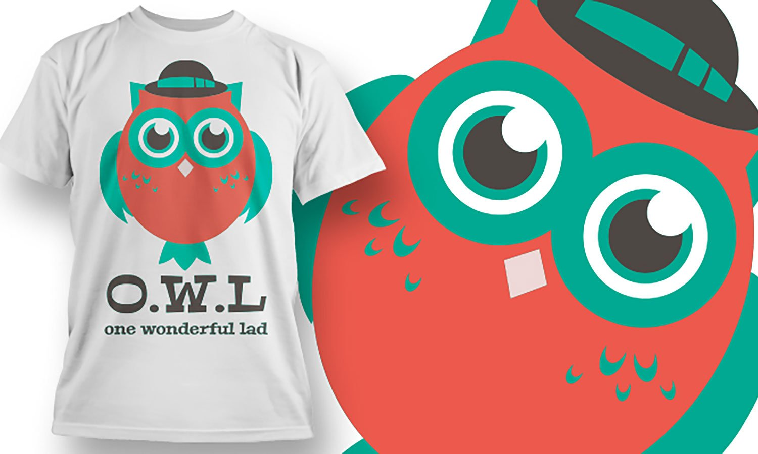 Owl - Printed T-Shirt for Men, Women and Kids - TS405