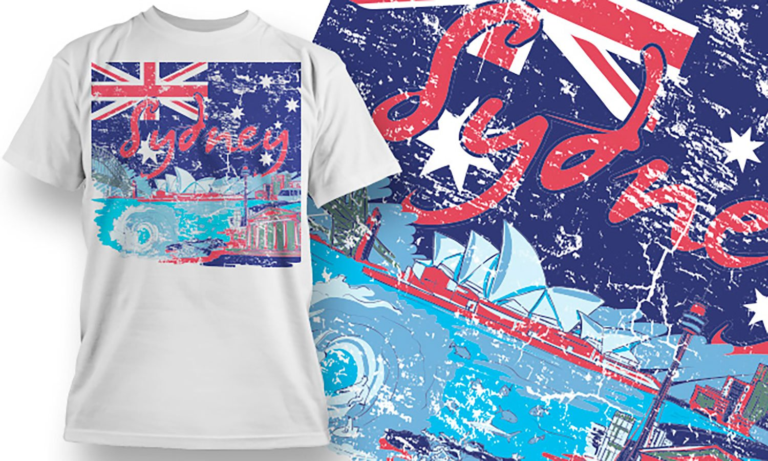 Sydney - Printed T-Shirt for Men, Women and Kids - TS116