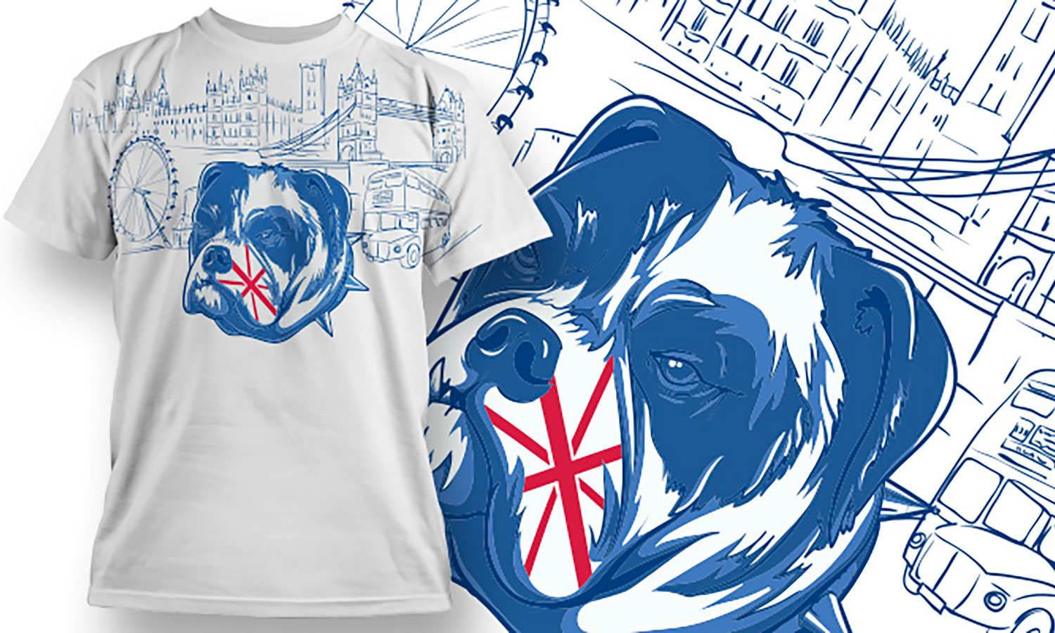 English Dog - Printed T-Shirt for Men, Women and Kids - TS083