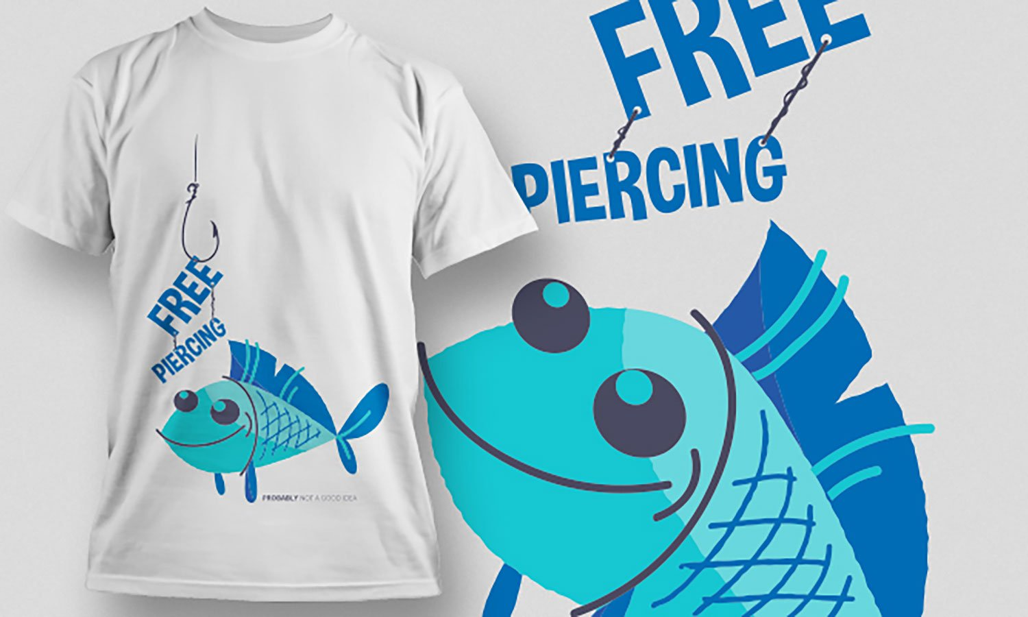 Fish - Printed T-Shirt for Men, Women and Kids - TS414