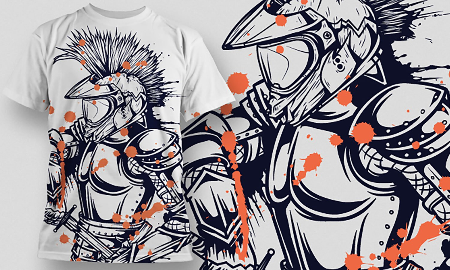 Knight - Printed T-Shirt for Men, Women and Kids - TS334