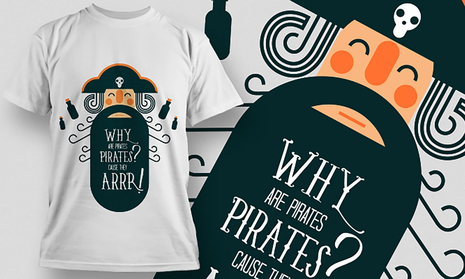 Pirates - Printed T-Shirt for Men, Women and Kids - TS438