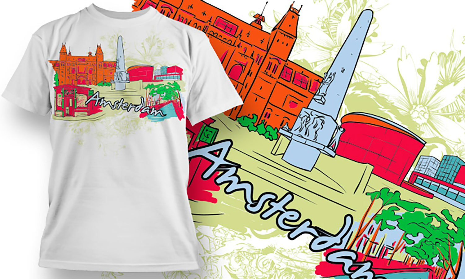 Amsterdam - Printed T-Shirt for Men, Women and Kids - TS120